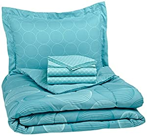 Pinzon 5-Piece Bed In A Bag - Twin,  Industrial Vintage Teal