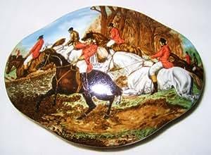 Limoges Fox Hunt Equestrian Oval Lidded Box