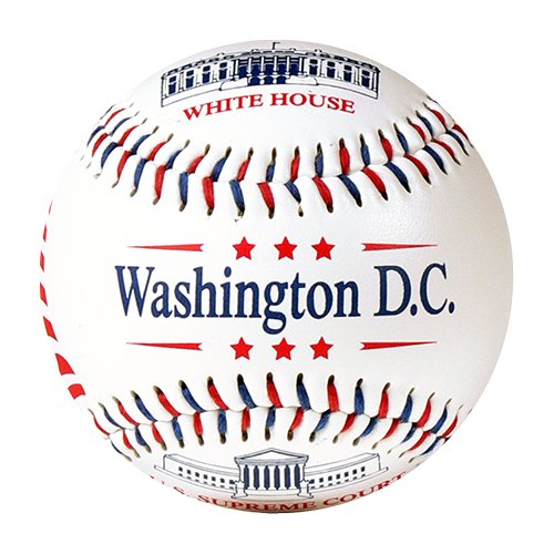 Washington D.C. Souvenir T-Ball (Rubber Core) - 1