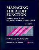Managing the audit function:a corporate audit department procedures guide