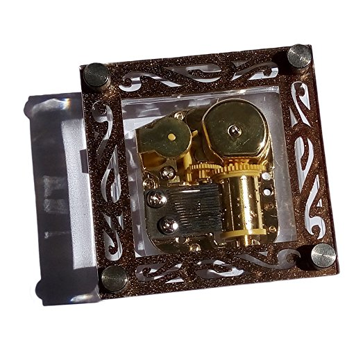 Wind-up Big Square Acrylic Music Box With Gold-plating Movement In,Over The Rainbow