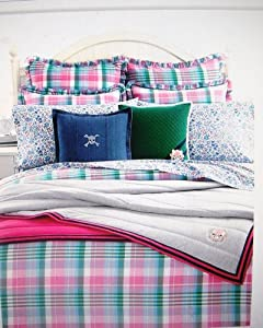 Lauren Ralph Lauren University Bedding Caitlin Madras Twin Duvet /Comforter Cover