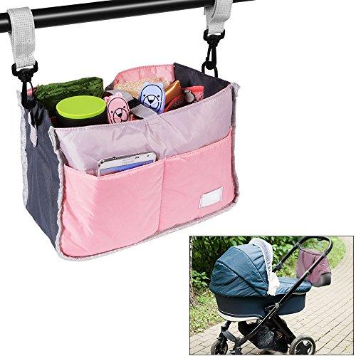 [Baby Changing Stroller Buggy Storage Pushchair Bag Bottle Organizer Pink] (Elephant Bunting Costumes)