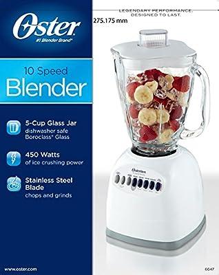 Oster 6647 10-Speed Blender, White