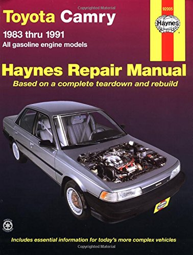 ebook pdf toyota camry 39 83 39 91 haynes repair manuals by. Black Bedroom Furniture Sets. Home Design Ideas