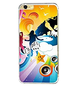 Music and Dance Graffiti 2D Hard Polycarbonate Designer Back Case Cover for Apple iPhone 6S