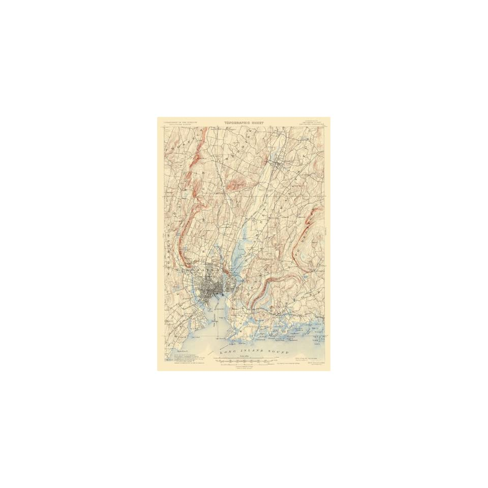 : USGS TOPO MAP NEW HAVEN QUAD CONNECTICUT (CT) 1892: Home & Kitchen