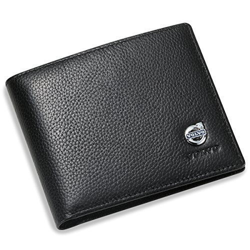 volvo-bifold-wallet-with-3-credit-card-slots-and-id-window-genuine-leather