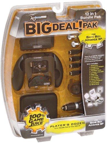 dreamGEAR Big Deal Pak 12-in-1 Bundle for Game Boy Advance SP- Onyx Black