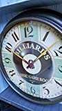 """20"""" HUGE Sterling & Noble BILLIARDS Classic Game Room Round Wall Clock W/Lucky Eight Ball & LARGE NUMBERS (Batteries Included)"""