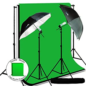 PHOTOGRAPHY STUDIO SLAVE FLASH LIGHT STAND UMBRELLA