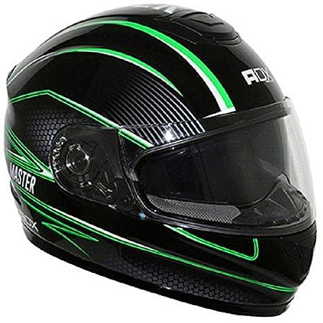 Casque moto intégral ADX XR2 MASTER - Double écran - Noir / Vert