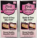 Set of 2 Pink Armor Nail Growth Formu...