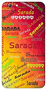 Sarada (Goddess Saraswati) Name & Sign Printed All over customize & Personalized!! Protective back cover for your Smart Phone : Samsung Galaxy E5