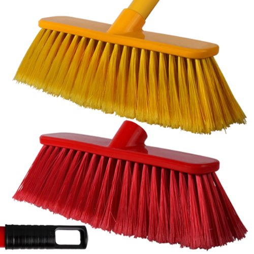 2-pack-of-28cm-red-yellow-soft-deluxe-floor-sweeping-brush-brooms-with-120cm-handle-comes-with-tch-a