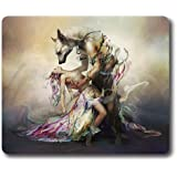 Dances with wolves classic rectangular mouse pad