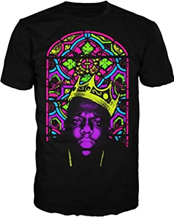 Notorious BIG Biggie Crown Stained Glass Mens Tee (Small)