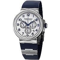 Ulysse Nardin Mens 1503-150-3/60 Marine Diver White Dial Blue Rubber Strap Watch