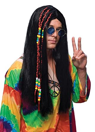 Rubie's Costume Long Hippie Wig, Brown, One Size