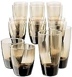 Libbey Classic 16-Piece Glassware Set, Mocha