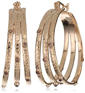 "GALA by Daniela Swaebe ""Pila"" Rose Gold Triple Hoop Earrings"