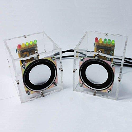 DIY Mini Amplifier Speaker Kit Transparent Speaker