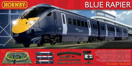 Hornby R1139 Blue Rapier (Class 395) OO Gauge Electric Train Set