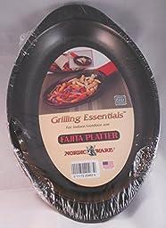 Nordic Ware Grilling Essentials Heavy Cast Aluminum Fajita Platter and Holder