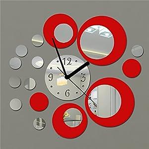 Soledi reloj de pared de metal con efecto de espejo - Relojes decorativos para salon ...