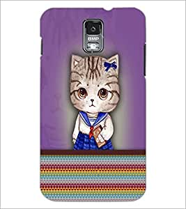 PrintDhaba Kitty D-3759 Back Case Cover for SAMSUNG GALAXY S5 (Multi-Coloured)