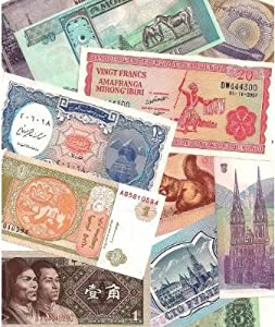 25 Different World Foreign Banknotes,Uncirculated with List - All banknotes are in Crisp Uncirculated condition