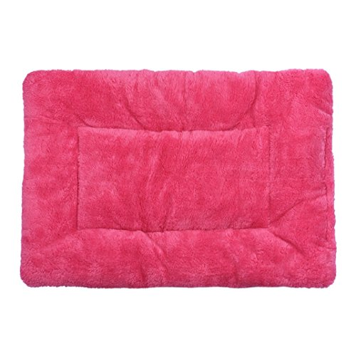 Generic Pet Cushion,Cute Dog Blanket Pet Cushion Dog Cat Bed Soft Warm Sleep Mat (Hot Pink)