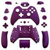 Matte Solid Purple Full Housing Shell Case with Buttons Free Tools for Microsoft Xbox One Controller