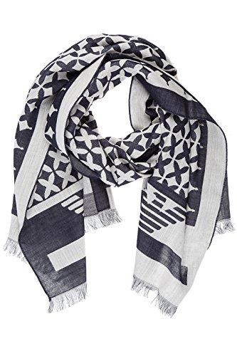 ARMANI JEANS - Sciarpa foulard da uomo logata 934019 blu