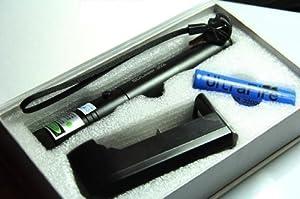 Lasmax Pointeur laser vert high power verrouillable avec clé de sécurité 10miles SUPER PUISSANT +18650 Li-Ion batterie 3000mah mise au point réglable