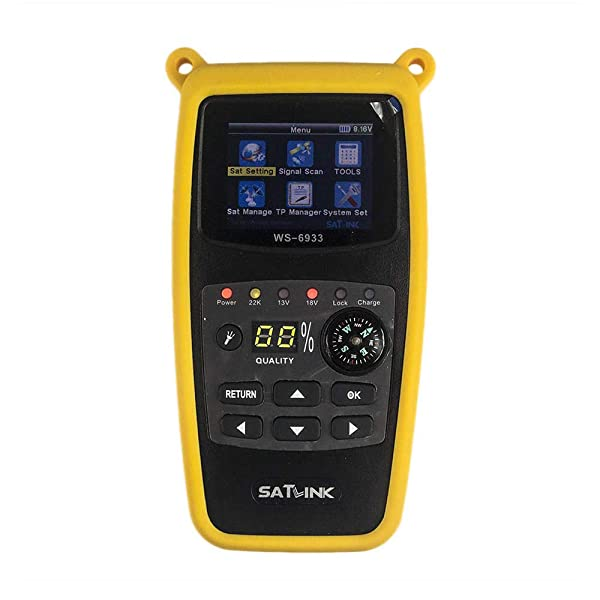 OUYAWEI SATLINK WS-6933 DVB-S2 Satellite Finder FTA CKU Band Satlink Digital Satellite Finder Meter US Plug electronicand etc. (Tamaño: {Specification: US plug})