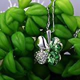 Merdia Swarovski Elements Crystal Four Leaf Clover Pendant Necklace 19""