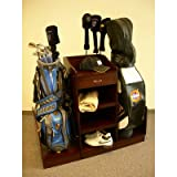 Golf Bag Caddie in Medium Walnut Finish