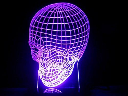 3D Human Skull Lamp Led Light Desk Man Cave Halloween Gift Night Light Ghost front-271600
