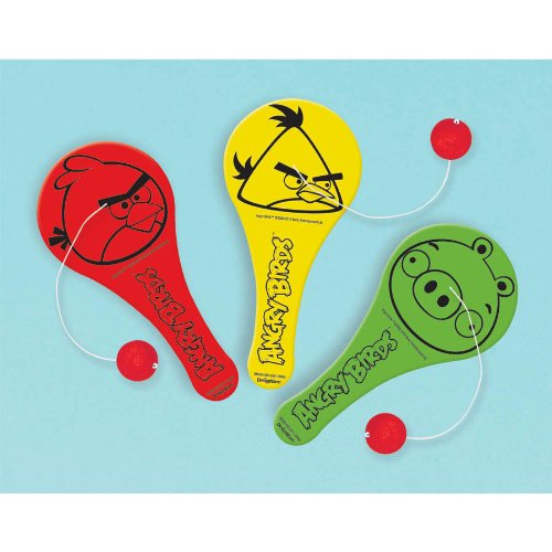 Angry Birds Paddle Balls / Favors (12ct)