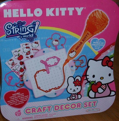 HELLO KITTY String World CRAFT DECOR SET