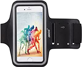[Apple New iPhone 6 (4.7-inch) Armband] iXCC ® Racer Series Easy Fitting [Sport Gym Bike Cycle Jogging Running Walking] Armband - Featured with Sweat Proof, Dual Arm-Size Slots and Key Pocket [Black]
