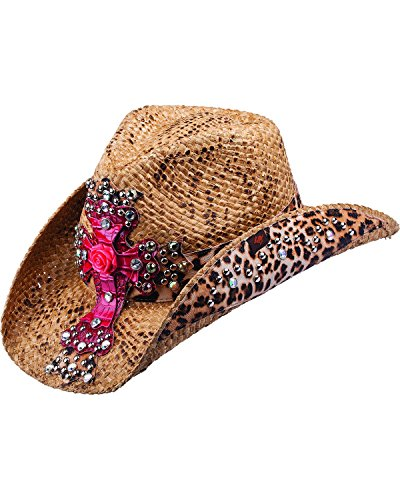 peter-grimm-ltd-womens-eris-leopard-print-and-embellished-cross-straw-cowgirl-brown-one-size