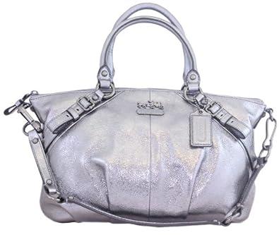 Coach Leather Sophia Satchel Bag Purse Tote 15960 Silver