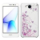 「Breeze-正規品」iPhone ・ スマホケース ポリカーボネイト [透明-Purple] アンドロイドワン507SHカバーY!mobile Android One [507SH]