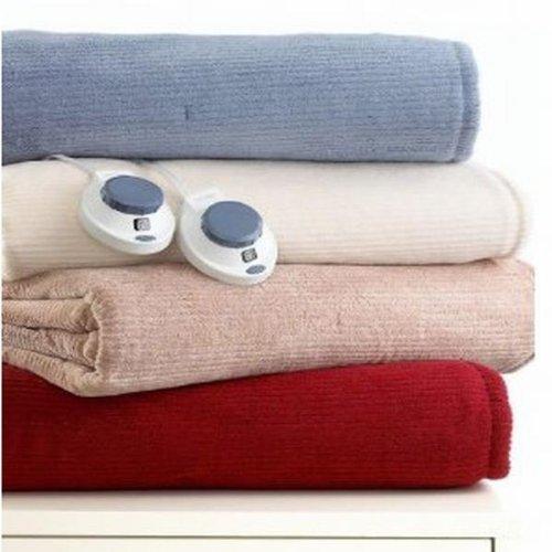 Soft Heat Luxury Full Warming Blanket Ivory