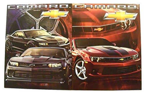 Muscle Car 2 Folder Set ~ Chevrolet Camaro (Black 2015 Camaro Z/28, Red 2015 Camaro 2SS Convertible) (Camaro 2ss compare prices)