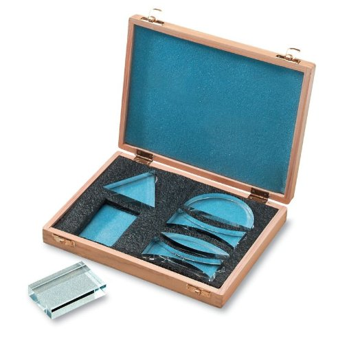 United Scientific 573159 Acrylic Prisms in Wooden Storage Box (Set of 6)