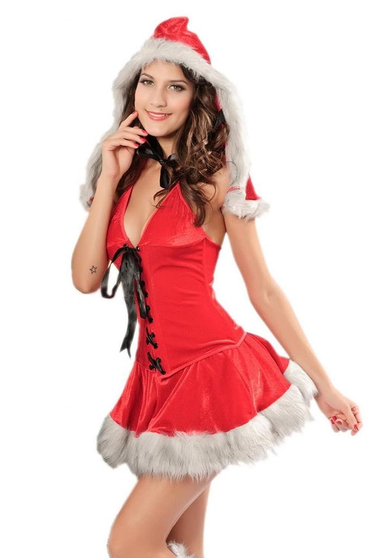 Lukis Damen Weihnachten Neckholder Kostüm Cosplay Dessous Minirock online kaufen