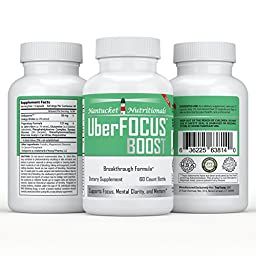 #1 All-Natural Nootropic Stack - Brain Booster and Enhancer to Improve Focus, Memory, and Mental Clarity | Super Ginkgo Biloba complex with St. Johns Wort & L-Glutamine | Moneyback Guarantee (60 cap/bottle), boost your brain power TODAY!